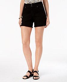 Style & Co Frayed-Hem Denim Shorts, Created for Macy's