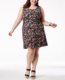 Fox & Royal Trendy Plus Size Floral-Print A-Line Dress