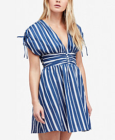 Free People Roll The Dice Striped A-Line Dress