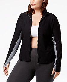 Calvin Klein Performance Plus Size Honeycomb Mesh Jacket