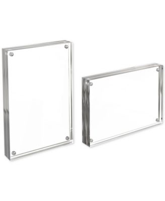 Magnetic Acrylic Crystal Photo Frame Double Side Clear Picture Photo Frame Decor