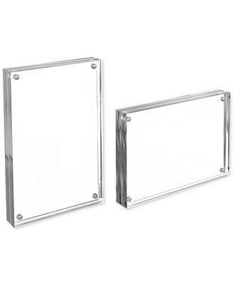 Trademark Global Acrylic 5 X 7 Double Sided Magnetic Block 2 Pc