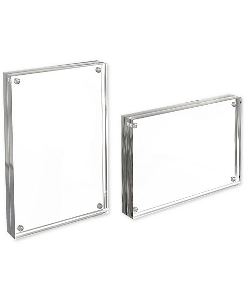 Trademark Global Acrylic 5 X 7 Double Sided Magnetic Block 2 Pc