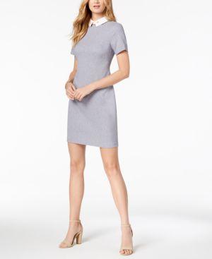 COLLARED SHIFT DRESS