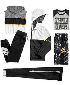 Ideology Colorblocked Jacket, Hoodie, T-Shirt, Shorts & Jogger Pants, Big Boys, Created for Macy's
