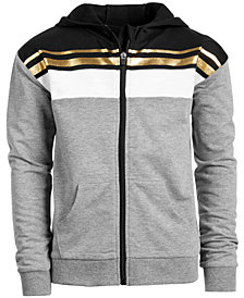 Ideology Big Girls Limitless Colorblocked Zip-Up Hoodie, Created for Macy's