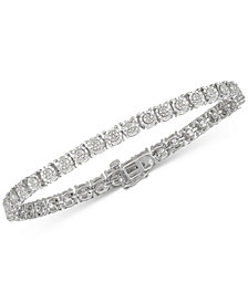 Diamond Tennis Bracelet (1/4 ct. t.w.) in Sterling Silver