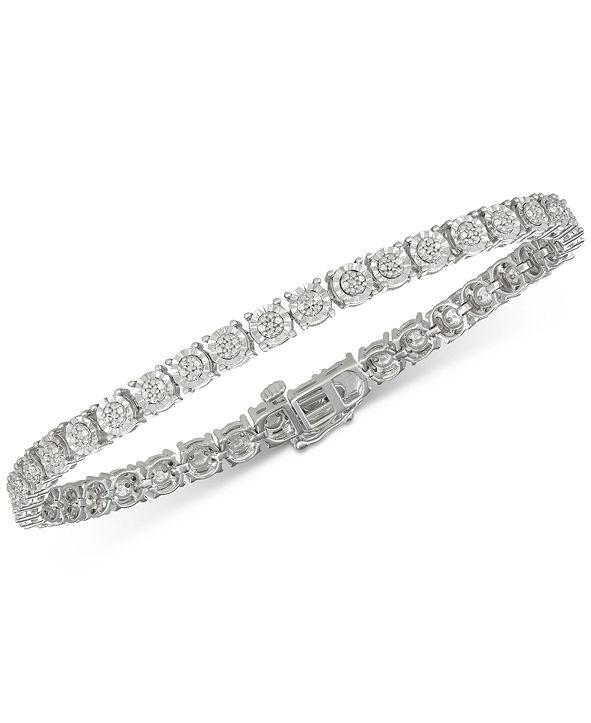 Macy's Diamond Tennis Bracelet (1/4 ct. t.w.) in Sterling Silver
