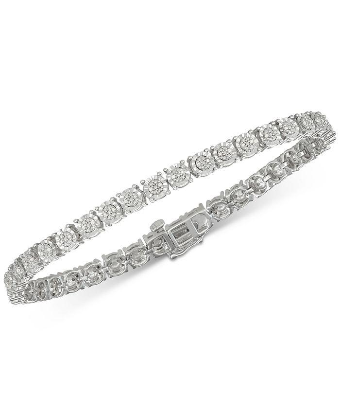 Macy's - Diamond Tennis Bracelet (1/4 ct. t.w.) in Sterling Silver