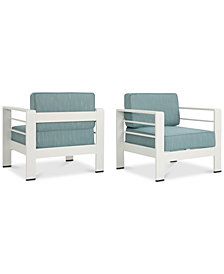 San Pico Outdoor Club Chairs (Set of 2), Quick Ship