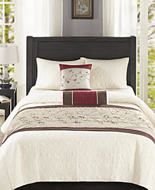 Madison Park Serene 3-Pc. Bedscarf and Pillow Set