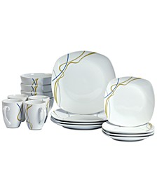 Hannah 16-Pc. Dinnerware Set, Service for 4