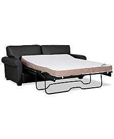 "Orid 75"" Full Leather Sleeper, Created for Macy's"