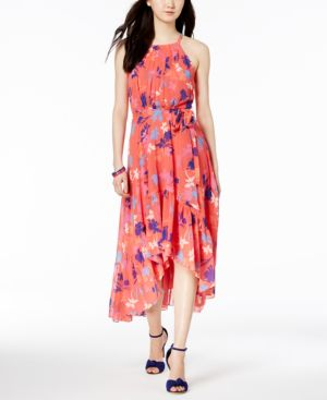 Vince Camuto Ruffled High-Low Maxi Dress 6059410