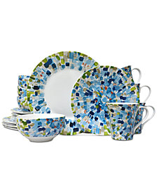 222 Fifth Solena Blue 16-Pc. Dinnerware Set, Service for 4