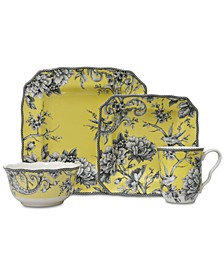 Adelaide Yellow 16-Pc. Dinnerware Set, Service for 4