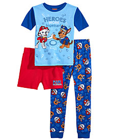 Disney Juniors® PAW Patrol Little & Big Boys 3-Pc. Cotton Pajama Set, Created for Macy's