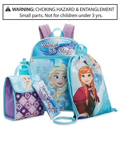 1664cbb415b Disney Frozen Little   Big Girls 5-Pc. Backpack   Accessories Set ...