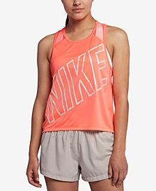 Nike Dry Miler Cropped Racerback Running Tank Top