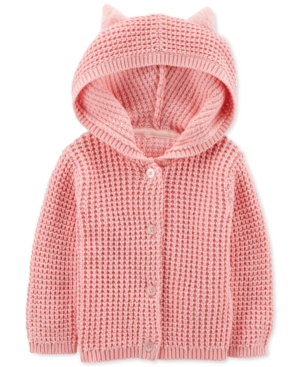 Carters Baby Girls Hooded Cardigan