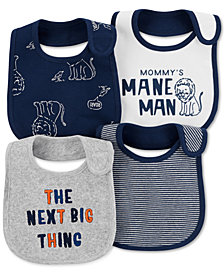 Carter's Baby Boys 4-Pk. Graphic-Print Cotton Teething Bibs