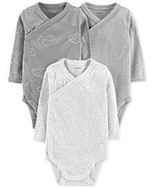 Carter's Baby Boys & Baby Girls 3-Pk. Cotton Side Snap Bodysuits