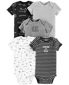 Carter's Baby Boys 5-Pk. Cotton Construction Bodysuits