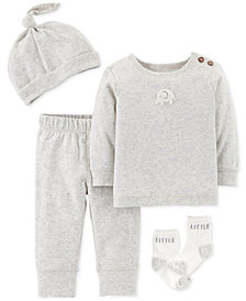 Carter's Baby Boys or Girls 4-Pc. Cotton Take-Me-Home Set