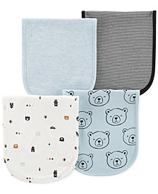 Carter's Baby Boys 4-Pack Printed Burp Cloths