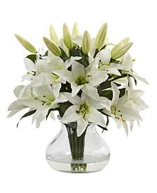 Nearly Natural Lily Silk Arrangement