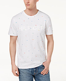 Tommy Hilfiger Men's Rainbow Logo Graphic-Print T-Shirt, Created for Macy's