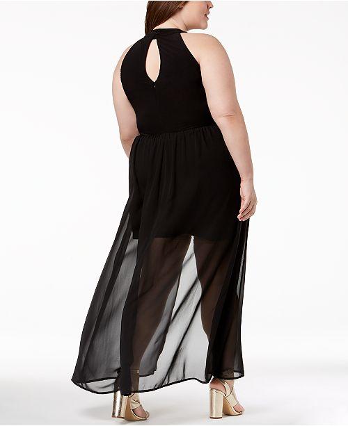 78a928b66a856 Love Squared Trendy Plus Size Lace Halter Romper Dress   Reviews ...
