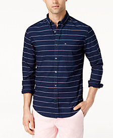 Tommy Hilfiger Men's Hamilton Striped Classic Fit Shirt, Created for Macy's