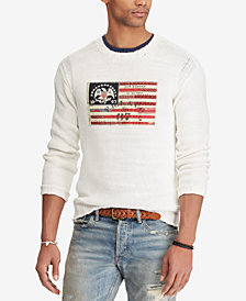 Polo Ralph Lauren Men's Crew-Neck Flag Sweater
