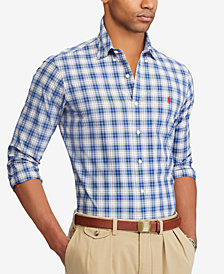 Polo Ralph Lauren Men's Classic-Fit Plaid Poplin Shirt