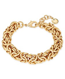 Charter Club Gold-Tone Byzantine Link Bracelet, Created for Macy's