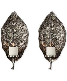 Uttermost Zelkova Leaf  2-Pc. Wall Sconce Set