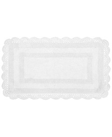 "Crochet Cotton Reversible 21"" x 34"" Bath Rug"