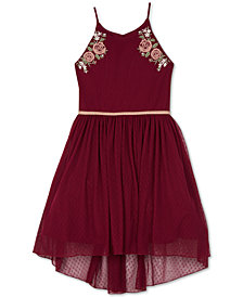 BCX Big Girls Embroidered High-Low Hem Dress