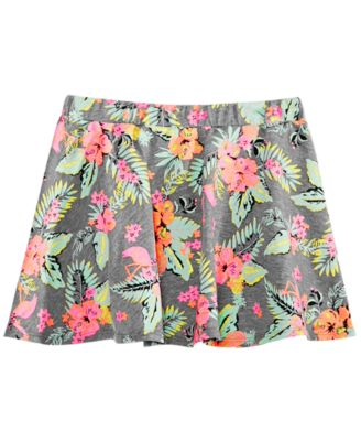 Toddler Girls Tropical-Print Scooter Skirt, Created for Macy's