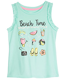 Epic Threads Little Girls Beach Time Tank Top, Created for Macy's