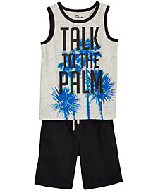 Epic Threads Little Boys Graphic-Print Tank Top & Shorts Separates, Created for Macy's