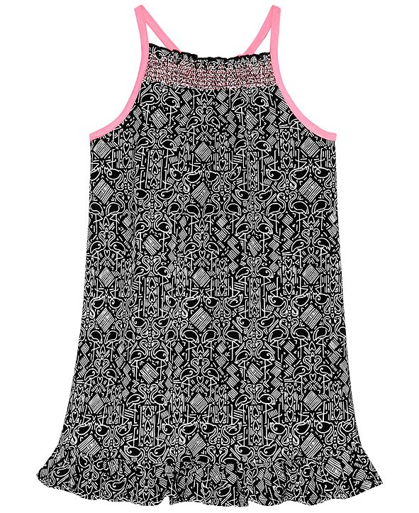Epic Threads Little Girls Flamingo-Print Dress, Created for Macy's