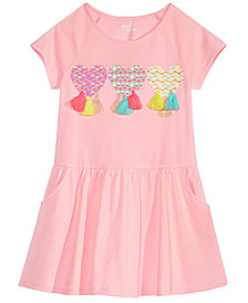 Epic Threads Toddler Girls Tassel-Trim Drop-Waist Dress, Created for Macy's