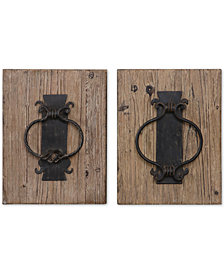 Uttermost Rustic Door Knockers 2-Pc. Wall Art Set