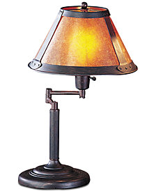 Cal Lighting 60W Swing Arm Mica Desk Lamp