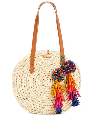 I.N.C. Melani Circle Straw Bag, Created For Macy's by Inc International Concepts
