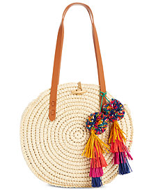 I.N.C. Melani Circle Straw Bag, Created for Macy's