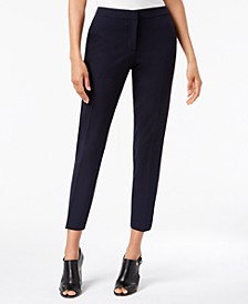 Twill Slim-Leg Ankle Dress Pants