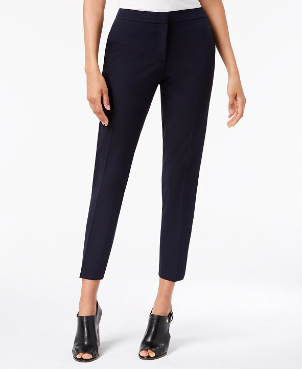 Tommy Hilfiger Twill Slim-Leg Ankle Dress Pants